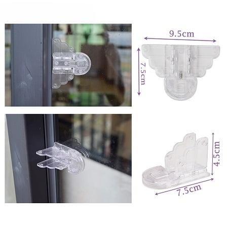 Stumdomu durų langų apsauga nuo vaiku - 2 vnt.