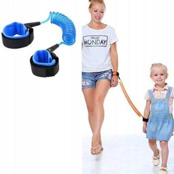 Pavadėlis vaikui ant riešo mėlynas 150 cm.